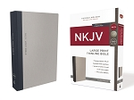 NKJV Thinline Large Print Gray/Blue Cloth over Board