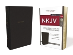 NKJV Thinline Large Print Black Leathersoft