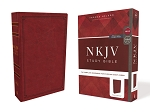 NKJV Study Red (Crimson) Leathersoft
