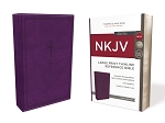 NKJV Thinline Large Print Purple Leathersoft